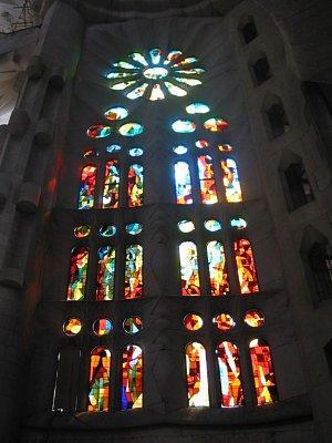 Vitráže v Sagrada Familia
