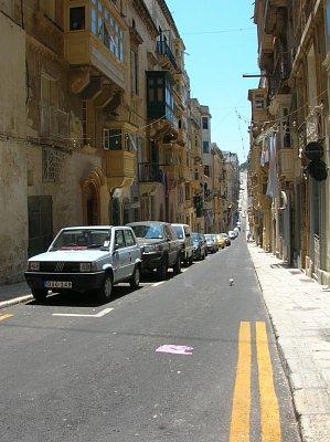 ulice ve Vallettě