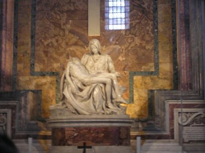Pieta - Pieta od Michelangela, originál, chrám sv. Petra ve Vatikánu (nahrál: Jana Černobilová)