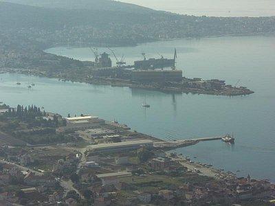 Nákladní přístav-Trogir (nahrál: luboš)