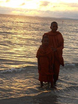 Kambodža - na pobreží v SIHANOUKVILLE