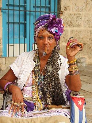 Havana - lidé v ulicích